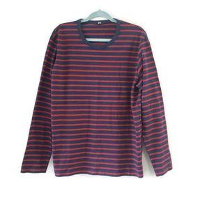 Uniqlo Men's Striped Pullover Shirt XL